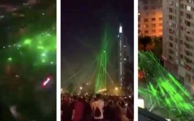 Chilean Protesters Used Lasers to Bring down Police Drone, It Worked