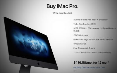 Apple discontinues iMac Pro, Apple Store says buy 'while supplies last' – 9to5Mac